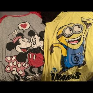 2 for $17 Nightgowns (Minnie Mickey/Despicable Me)